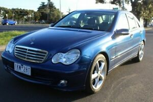 2004 Mercedes-Benz C180 Kompressor W203 MY2005 Elegance Blue 5 Speed Automatic Sedan