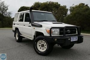 2010 Toyota Landcruiser VDJ76R 09 Upgrade Workmate (4x4) White 5 Speed Manual Wagon Hillman Rockingham Area Preview
