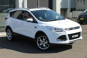 2015 Ford Kuga TF MY15 Titanium AWD White 6 Speed Sports Automatic Wagon Wolli Creek Rockdale Area Preview