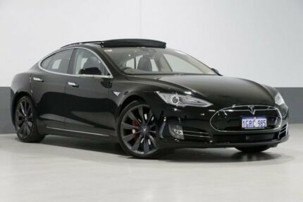 2015 Tesla Model S P85D Black 1 Speed Automatic Hatchback Bentley Canning Area Preview