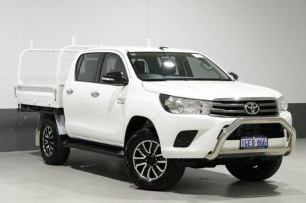 2017 Toyota Hilux GUN126R MY17 SR (4x4) White 6 Speed Automatic Dual Cab Chassis Bentley Canning Area Preview