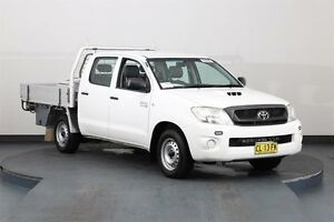 2010 Toyota Hilux KUN16R 09 Upgrade SR White 5 Speed Manual Dual Cab Pick-up Smithfield Parramatta Area Preview