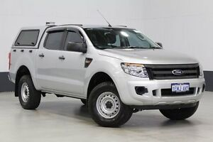 2014 Ford Ranger PX XL 2.2 HI-Rider (4x2) Silver 6 Speed Automatic Crew Cab P/Up Bentley Canning Area Preview