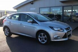 FORD FOCUS 1.6 ZETEC TDCI 5d 113 BHP - 360 SPIN ON WEBSITE (silver) 2013