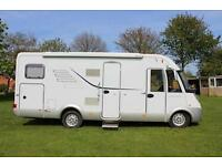 Hymer B664CL rear garage rear fixed bed A class Motorhome for sale PRICE REDUCED