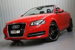 2013 Audi A3 8P MY13 Attraction S tronic Red 7 Speed Sports Automatic Dual Clutch Convertible Port Melbourne Port Phillip Preview