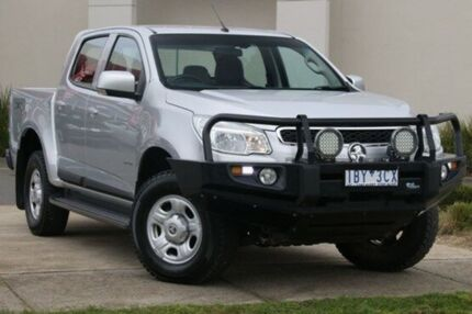 2014 Holden Colorado RG MY14 LX Crew Cab Silver 6 Speed Sports Automatic Utility