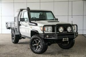 2008 Toyota Landcruiser VDJ79R Workmate White 5 Speed Manual Cab Chassis Wangara Wanneroo Area Preview