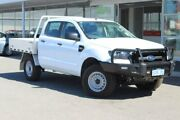 2018 Ford Ranger PX MkII 2018.00MY XL Double Cab White 6 Speed Sports Automatic Cab Chassis Osborne Park Stirling Area Preview