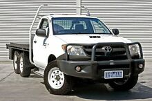 2006 Toyota Hilux  White Manual Cab Chassis Cranbourne Casey Area Preview