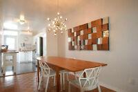 Dans Saint-Henri: Magnifique appartement de 4 chambres (7 1/2)