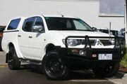 2015 Mitsubishi Triton MN MY15 GLX-R Double Cab White 5 Speed Sports Automatic Utility Ringwood East Maroondah Area Preview