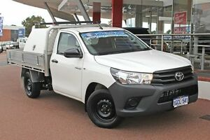2016 Toyota Hilux TGN121R Workmate Glacier White 5 Speed Manual Cab Chassis Myaree Melville Area Preview