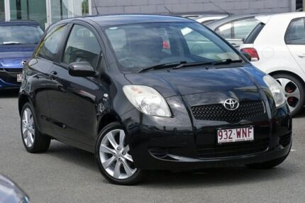 2008 Toyota Yaris NCP90R YR Black 5 Speed Manual Hatchback Southport Gold Coast City Preview