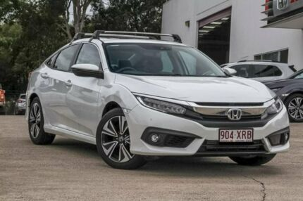 2017 Honda Civic 10th Gen MY17 VTI-LX White 1 Speed Constant Variable Sedan Noosaville Noosa Area Preview