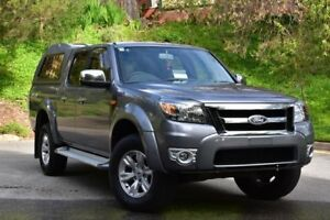 2010 Ford Ranger PK XLT Crew Cab Grey 5 Speed Automatic Utility St Marys Mitcham Area Preview