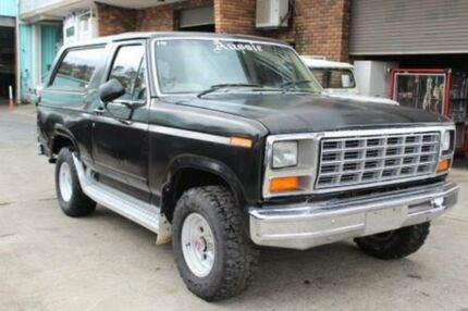 1981 Ford Bronco 4x4 Black 3 Speed Automatic Wagon
