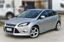 2014 Ford Focus LW MKII Titanium PwrShift Silver 6 Speed Sports Automatic Dual Clutch Hatchback Berwick Casey Area Preview