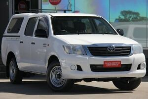 2012 Toyota Hilux GGN15R MY12 SR White 5 Speed Automatic Dual Cab Pick-up Old Guildford Fairfield Area Preview