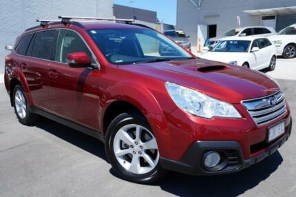 2013 Subaru Outback B5A MY14 2.5i Lineartronic AWD Maroon 6 Speed Constant Variable Wagon