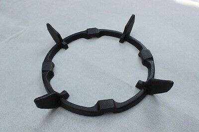 BLACK CAST IRON WOK STAND FOR GAS HOBS WOK SUPPORT STAND