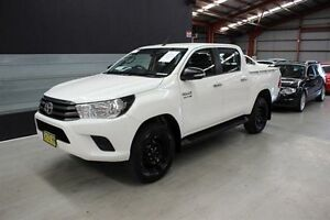 2016 Toyota Hilux GUN126R SR Double Cab White 6 Speed Sports Automatic Utility Maryville Newcastle Area Preview