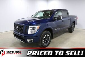 2018 Nissan Titan 4X4 PRO-4X CREW CAB BACK UP CAMERA, BLUETOOTH,