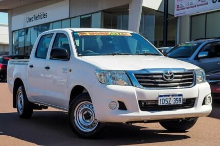 2011 Toyota Hilux GGN15R MY10 SR Glacier White 5 Speed Automatic Utility Wangara Wanneroo Area Preview