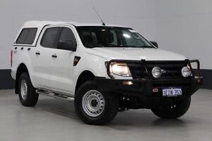 2013 Ford Ranger PX XL 3.2 (4x4) White 6 Speed Automatic Dual Cab Utility Bentley Canning Area Preview