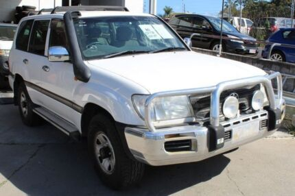 2004 Toyota Landcruiser HDJ100R GXL (4x4) White 5 Speed Automatic Wagon Underwood Logan Area Preview
