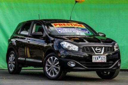 2011 Nissan Dualis J10 Series II MY2010 Ti Hatch X-tronic Black 6 Speed Constant Variable Hatchback Ringwood East Maroondah Area Preview