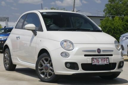 2014 Fiat 500 Series 1 S White 6 Speed Manual Hatchback Kedron Brisbane North East Preview