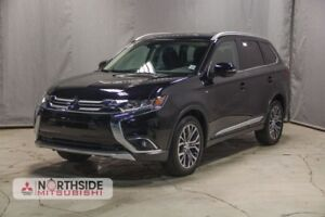 2018 Mitsubishi Outlander GT AWD HEATED LEATHER SEATS AND WHEEL,