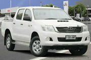 2013 Toyota Hilux KUN26R MY12 SR Double Cab Glacier White 4 Speed Automatic Utility Adelaide CBD Adelaide City Preview