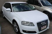 2009 Audi A3 8P MY09 TFSI Sportback S tronic Ambition White 7 Speed Sports Automatic Dual Clutch Underwood Logan Area Preview