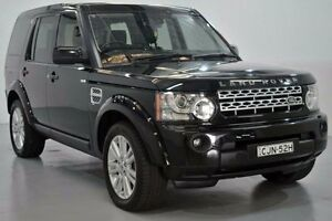 2012 Land Rover Discovery 4 Series 4 L319 SDV6 Black Sports Automatic Wagon Lansvale Liverpool Area Preview