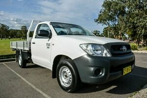 2011 Toyota Hilux TGN16R MY11 Upgrade Workmate White 5 Speed Manual Cab Chassis Wetherill Park Fairfield Area Preview