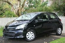 2013 Toyota Yaris NCP130R YR Black 4 Speed Automatic Hatchback Hawthorn Mitcham Area Preview