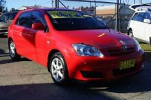 2006 Toyota Corolla ZZE122R Ascent Sport Red 5 Speed Manual Sedan Oak Flats Shellharbour Area Preview