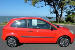 2006 Ford Fiesta WQ LX Red 5 Speed Manual Hatchback South Gladstone Gladstone City Preview