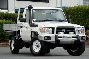 2013 Toyota Landcruiser VDJ79R MY13 Workmate White Solid 5 Speed Manual Cab Chassis Acacia Ridge Brisbane South West Preview