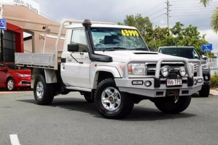2014 Toyota Landcruiser VDJ79R MY13 GXL White 5 Speed Manual Cab Chassis Noosaville Noosa Area Preview