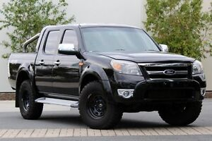 2010 Ford Ranger PK XLT Crew Cab Black 5 Speed Automatic Utility Robina Gold Coast South Preview