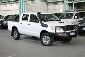 2012 Toyota Hilux KUN26R MY12 SR Double Cab White 5 Speed Manual Utility