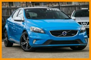 2014 Volvo V40 M Series MY14 T5 Adap Geartronic R-Design Blue 6 Speed Sports Automatic Hatchback Hillcrest Logan Area Preview