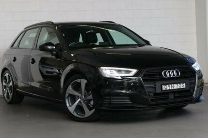 2018 Audi A3 8V MY18 Sportback S tronic Black 7 Speed Sports Automatic Dual Clutch Hatchback Zetland Inner Sydney Preview