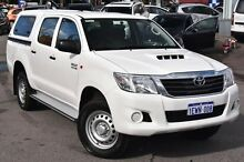 2015 Toyota Hilux KUN26R MY14 SR Double Cab White 5 Speed Automatic Cab Chassis Myaree Melville Area Preview