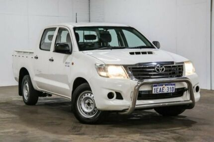 2012 Toyota Hilux SR SR White Manual Dual Cab Utility