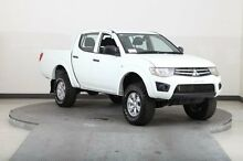 2013 Mitsubishi Triton MN MY13 GLX (4x4) White 5 Speed Manual Utility Smithfield Parramatta Area Preview
