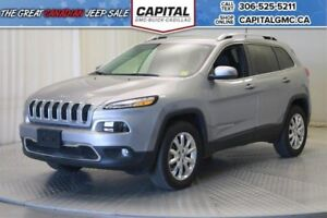 2017 Jeep Cherokee Limited 4WD*Leather*Nav*
